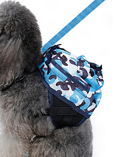 cheap Dog Clothes-Dog Backpack Dog Clothes Classic Cute Casual/Daily Holiday Birthday Reversible Fashion Sports Wedding New Year's Halloween Camouflage Blue
