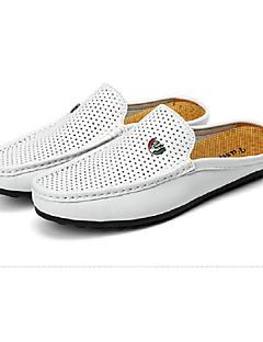 hesapli -Erkek Ayakkabı Domuz Derisi Bahar Yaz Rahat Mokasen & Bağcıksız Ayakkabılar Yürüyüş Düğün Günlük Ofis ve Kariyer Parti ve Gece için Beyaz