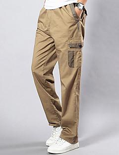 billige Herrebukser og -shorts-Herre Store størrelser Rett Løstsittende Joggebukser Chinos Bukser - Lapper, Ensfarget