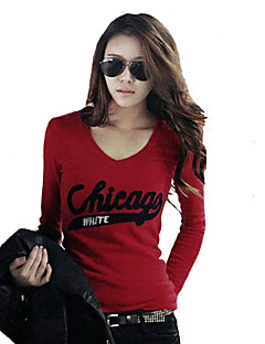Women's Casual/Daily Simple Street chic T-shirt,Solid Round Neck Short Sleeve Polyester Others
