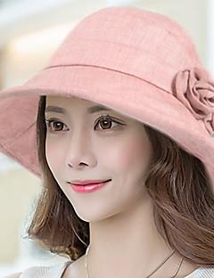 Χαμηλού Κόστους Breezy & Chic Straw Hats-Γυναικεία Μονόχρωμο, Καθημερινό Βαμβάκι Καπέλο ηλίου