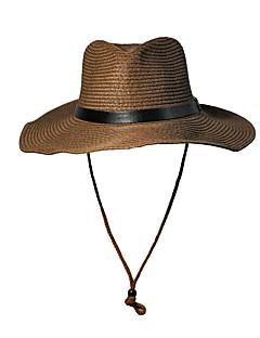 billige Trendy hatter-Unisex Vintage Søtt Fest Kontor Fritid Stråhatt Solhatt,Vår Sommer Høst Alle årstider Ensfarget Strå Brun Hvit Beige Kakifarget