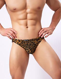 billige Herremote og klær-Herre Super Sexy Underbukse - Trykt mønster, Jacquardvevnad 1 Deler