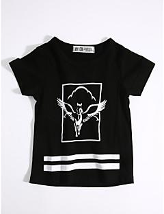 billige Lagersalg-Fritid/hverdag T-skjorte Geometrisk Bomull Sommer Kortermet