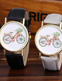 Mulheres Relógio de Moda Relógio de Pulso Único Criativo relógio Relógio Casual Chinês Quartzo / Colorido Couro BandaBrilhante Legal