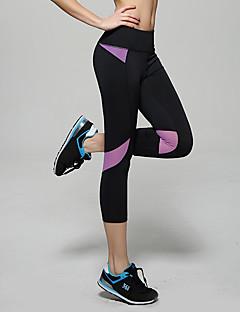 billige Løbetøj-Dame Løbebukser Åndbart, Blød, Bekvem 3/4 Tights Yoga / Campering & Vandring / Træning & Fitness Tactel, Elastin Himmelblå / Lilla / Lys