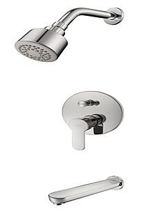 tanie Baterie prysznicowe Sprinkle®-Lightinthrbox Baterie prysznicowe Sprinkle® - Współczesny Chrom Mocowanie ścienne Trzy otwory