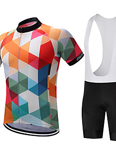 cheap Cycling Clothing-SUREA Cycling Jersey with Bib Shorts Men's Short Sleeves Bike Clothing Suits Bike Wear Quick Dry Moisture Permeability Breathable Soft