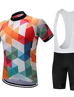 olcso -SUREA Kerékpáros dzsörzé kantáros nadrággal Férfi Rövid ujjú Bike Rövidnadrágok Ing Sweatshirt Dzsörzé Bib Tights FelsőkGyors szárítás
