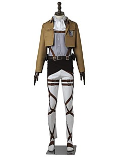 Inspired by Attack on Titan Levy Anime Cosplay Costumes Cosplay Suits Solid Long Sleeves Top Pants Apron Belt More Accessories T-shirt For