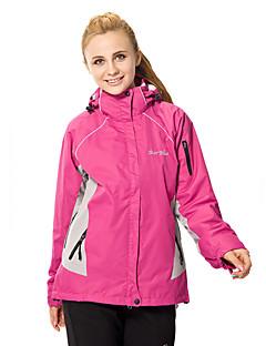 Femme Anorak 3 en 1 Extérieur Hiver Etanche Garder au chaud Pare-vent Doublure Polaire Vestimentaire Respirable Cap détachable