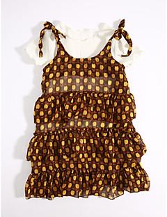 お買い得  子供用ファッション-女の子の カジュアル/普段着 プリント コットン ドレス 夏