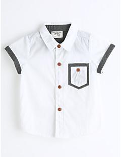 男の子 純色 コットン シャツ 夏 半袖