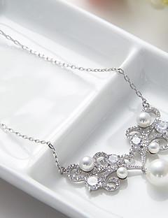 ieftine -Pentru femei Toroane Coliere Bijuterii Bijuterii Perle Cristal Aliaj Design Unic Modă Euramerican Bijuterii Pentru Nuntă Petrecere Zi de