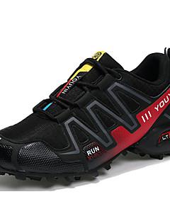 hesapli -Erkek Ayakkabı PU Tül Bahar Sonbahar Rahat Atletik Ayakkabılar Koşu Atletik Dış mekan için Bağcıklı Koyu Mavi Gri Siyah/Kırmızı