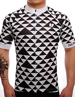 billiga Cykling-SUREA Herr Kortärmad Cykeltröja Cykel Tröja, Snabb tork, Andningsfunktion, Svettavvisande Coolmax® / Lycra