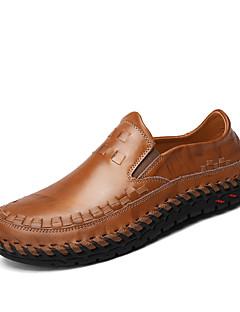 Χαμηλού Κόστους -Ανδρικά Comfort Loafers Νάπα Leather Άνοιξη / Καλοκαίρι / Φθινόπωρο Ανατομικό Μοκασίνια & Ευκολόφορετα Περπάτημα Μαύρο / Καφέ