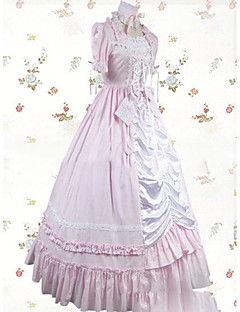 One Piece Dress Gothic Lolita Lolita Cosplay Lolita Dress Vintage Cap Long Sleeves Dress For Other