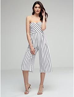 billige Jumpsuits og sparkebukser til damer-Dame Kjeledresser - Stripet, Åpen rygg Stroppeløs