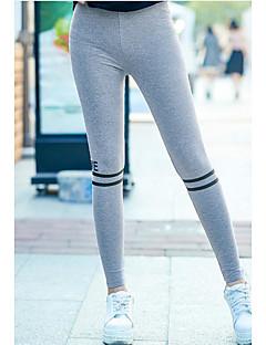 baratos Leggings para Mulheres-Mulheres Esportes Cor Única Legging - Sólido / Multi-Côr Alto / Tanga & Fio Dental / Look Esportivo