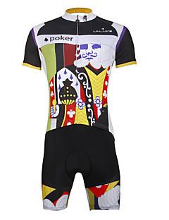 Sykkeljersey med shorts Herre Mann Kortermet Sykkel KlessettSykling Fort Tørring Ultraviolet Motstandsdyktig Komprimering