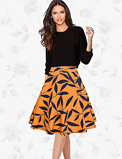 お買い得  レディーススカート-女性用 お出かけ ブランコ スカート プリント