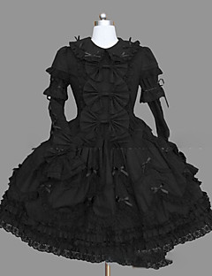Gothic Lolita Dress Princess Punk Women's Girls' One Piece Dress Cosplay Cap Long Sleeves Short / Mini