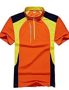 baratos Camisetas para Trilhas-Homens Camiseta de Trilha Ao ar livre Secagem Rápida Respirável Camiseta Blusas Acampar e Caminhar Caça Pesca Alpinismo