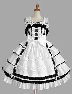 billiga Lolitamode-Prinsessa Söt Lolita Dam Flickor jsk / Jumper Kjol Cosplay Vit Balklänning Holk Ärmlös Kort / mini Plusstorlekar Anpassad Kostymer