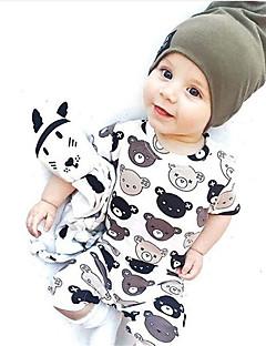 Baby Einzelteil Modisch Druck Geometrisch Baumwolle Sommer Kurzarm