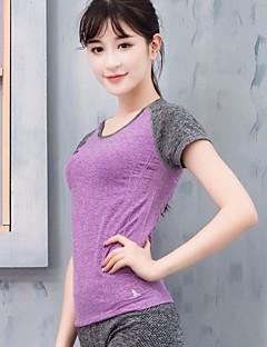 baratos Camisas para Trilhas-Mulheres Camiseta de Trilha Secagem Rápida Redutor de Suor Conjuntos de Roupas para Correr Outono Todas as Estações S M L
