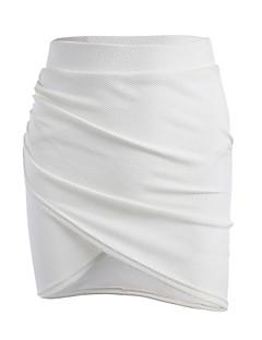 preiswerte Hosen & Röcke für Damen-Damen Bodycon Röcke - Solide, Reine Farbe