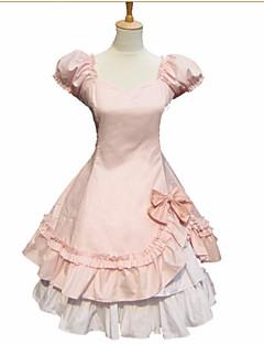 billiga Lolitaklänningar-Prinsessa Gotisk Lolita Dam Klänningar Cosplay Kortärmad Kort / mini Kostymer