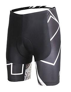 billige Sykkelklær-ILPALADINO Herre Fôrede sykkelshorts Sykkel Shorts / Bunner 3D Pute, Fort Tørring, Anatomisk design Mønstret, Mote Lycra Sykkelklær