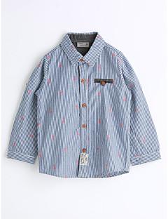cheap Kids' New Ins-Unisex Striped Stripe Shirt,Cotton Spring Fall Long Sleeve Blue
