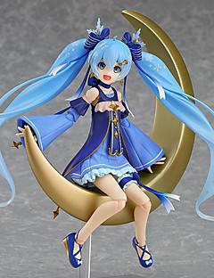 billige Anime cosplay-Anime Action Figurer Inspirert av Vokaloid Snow Miku PVC 15 CM Modell Leker Dukke Unisex