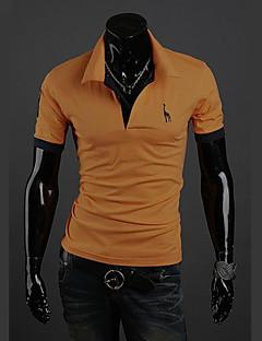 お買い得  メンズポロシャツ-男性用 週末 プラスサイズ Polo, 活発的 シャツカラー スリム ソリッド コットン