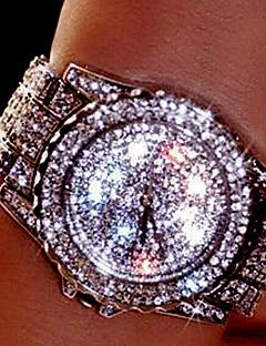 בגדי ריקוד נשים לזוג שעוני שמלה שעוני אופנה שעון יד שעון צמיד ייחודי Creative צפה יהלוםSimulated שעון שעון משובץ אבנים קווארץ אבן נוצצת