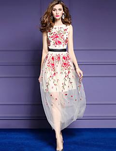 levne Dámské šaty-Dámské Sofistikované A Line Pouzdro Swing Šaty - Výšivka, Stylové Výšivka Midi