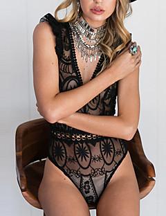 billige Topper til damer-Dame Vintage Sparkedrakter - Blonder Mote, Uthult Ferie Sexy Dyp V