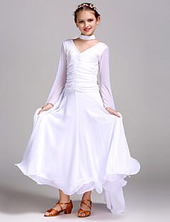 Ballroom Dance Dresses Children's Training Tulle Viscose Long Sleeve