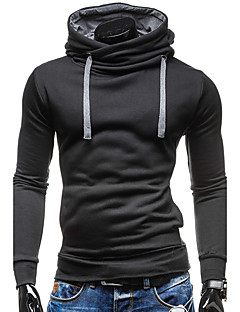 Men's Daily Casual Sports Contemporary Hoodie Solid Hooded strenchy 100%Cotton Long Sleeve Spring Fall Winter