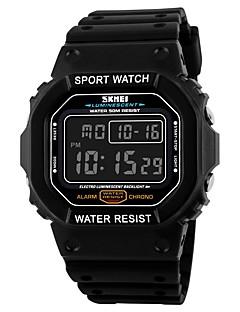 SKMEI Herre Sportsklokke Digital Watch Digital Kalender Vannavvisende Stoppeklokke PU Band Svart