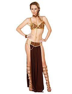 billige Halloweenkostymer-Eventyr Egyptiske Kostymer Queen Skjørt Cosplay Kostumer Halloween Utstyr Halloween Karneval Festival / høytid Halloween-kostymer Drakter Vintage Det gamle Egypt
