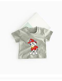 billige Babyoverdele-Baby Pige T-shirt Ensfarvet Rosette Grøn Hvid Grå Gul