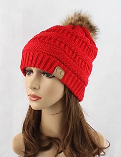 Damen Kopfbedeckung Niedlich Freizeit Schick & Modern Lässig/Alltäglich Strickware Herbst Winter Baumwolle Beanie Schlapphut,SolideReine