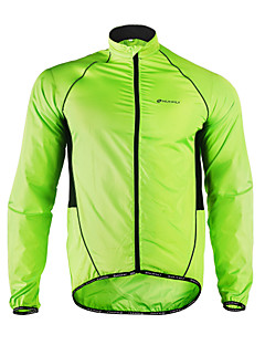cheap Cycling-Nuckily Cycling Jacket Men's Bike Raincoat Windbreaker Jacket Top Spring Summer Polyester Bike Wear Moisture Wicking Waterproof Ultra