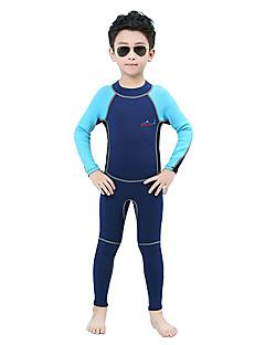 Barn 2mm Heldekkende våtdrakt Fort Tørring Anatomisk design Pustende Neopren Dykkerdrakt Langermet Dykkerdrakter-Dykking Vår Sommer Mote