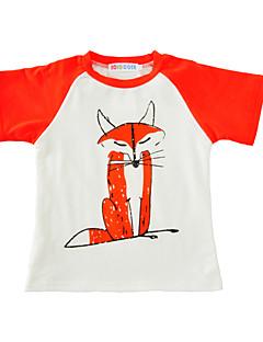 Poikien Painettu T-paita Puuvilla Kesä Lyhythihainen Normaali