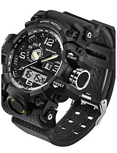preiswerte Digitaluhren-SANDA Herrn Armbanduhr Smart Watch Militäruhr Modeuhr Sportuhr Japanisch digital Wasserdicht LED Nachts leuchtend Fitness Tracker Duale